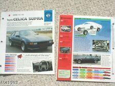 TOYOTA CELICA SUPRA 2.8i SPEC SHEET/Brochure:1984,1985