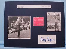 Billy Casper Wins the 1966 U.S. Open  & his autograph