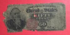 "New Listing1869 Us Fractional Currency ""Fifty Cents"" ""Stanton""! Old Us Rough!"