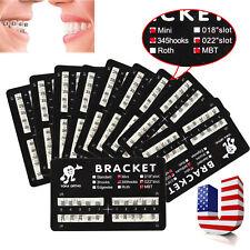 200PCS Orthodontic Dental Mini MBT 022 3-4-5 Hooks Bracket Braces USA SKYSEA