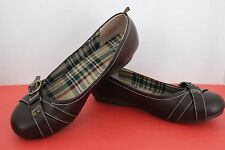 Youth Girl's FADED GLORY Dressy or Casual SHOES~Size 4~Flats~DARK BROWN