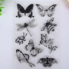 Ladybug Craft Scrapbooking Transparent Clear Butterfly And Bee Rubber Stamp