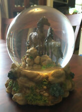 National Geographic Mustang Water Globe Music Box 44-22698-6 Free as the Wind