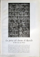 1958 clipping La porta del Duomo di RAVELLO di Barisano da Trani di pagine 4