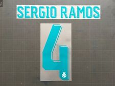 SERGIO RAMOS 4 REAL MADRID HOME NAMESET FLOCAGE TRANSFERT SPORTING ID 17-18