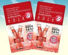 5PCS Korean ANTI-WRINKLE Essence Facial TENCEL Mask Sheet Moisture Skin Care