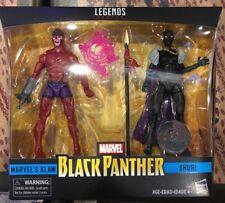 "Marvel Legends 6"" Black Panther MARVEL'S KLAW+SHURI 2-Pack TRU Exclusive MIMB"