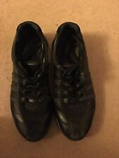 Hotter ladies Leather Synergy trainer Black size 4