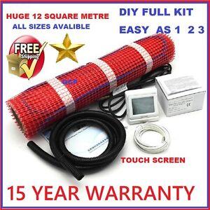 Floor Heating Kit 1 - 12 sqm- Electric Underfloor Under Tile Undertile Heat Mats