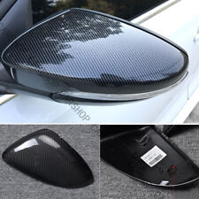 Carbon Fiber Door Side Mirror Cover Caps Replace For VW Golf 7 GTI MK7 15-18