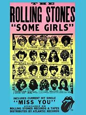 "Rolling Stones Some Girls 16"" x 12"" Photo Repro promo Poster"