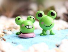mini succulent garden figurines 1 pair Frogs