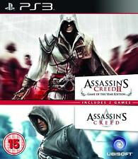 PS3 Jeu Assassin's Assassins Creed 1 & 2 Pack Double Neuf