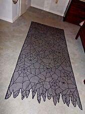 "Black Lace Halloween Spider Web Panel  38"" X 84"""