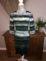Phase Eight Ladies Sought After Green Blue White Dress Size 12