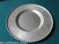 """Wrought Farberware Brooklyn NY Aluminum platter 11 1/2"""" diam [*]"""