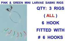 1 x Multicolour Flash Sea Fishing Rigs 5 Hk Size 3//0