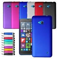 For Microsoft Lumia 550 Stylish Hard Shell Case Back Cover + Screen + Stylus