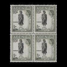 Aden 1954 (MNH) 10s Tribesman block, black & bronze-green