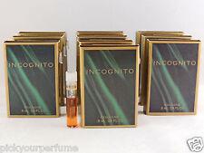 COVER GIRL INCOGNITO COLOGNE FOR WOMEN .8ml .03fl oz x 10 SAMPLE VIAL MINI LOT