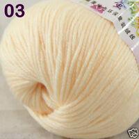 Sale 1 Skein x50g Baby Cashmere Silk Wool Children hand knitting Crochet Yarn 03