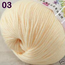 1 Skein X50g Baby Cashmere Silk Wool Children Hand Knitting Crochet Yarn 03