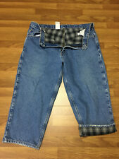 MENS 42 x 25 - Carhartt B172 Denim Flannel Lined Work Jeans Pants Relaxed Fit