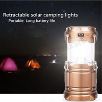 Solar LED Flashlight Rechargeable Power Camping Tent Light Torch Lantern  Gift