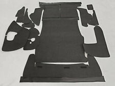 Black velours trunk carpet kit for Fiat Dino Coupe and Spider 1966-1972