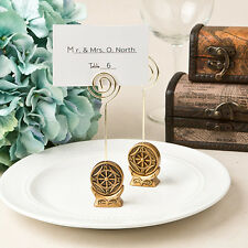 15 Anchor Compass Nautical Travel Theme Place Card Holders Wedding Favors