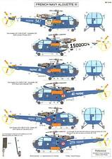 Berna Decals 1/72 AEROSPATIALE ALOUETTE III HELICOPTER IN FRENCH NAVY SERVICE