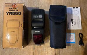 Yongnuo YN660 Flash Speedlite Gun for Nikon, Canon, Sony BRAND NEW BOXED