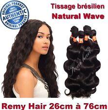 TISSAGE BRESILIEN 100% NATUREL ONDULE NATURAL WAVE VIRGIN HAIR 26CM-76CM 100G