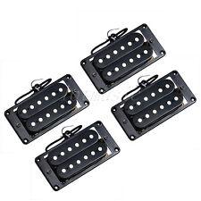 2 Sets Electric Guitar Humbucker Pickups Bridge and Neck Set Double Coil Black