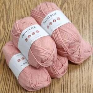 5 x 100g Paintbox Knitting Crochet yarn  Simply Chunky Blush Pink 353