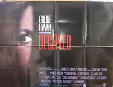 Goldie Hawn DECEIVED(1991)Original UK quad cinema poster