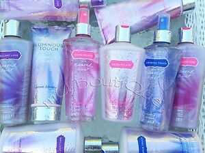 VICTORIAS SECRET DIAMOND DUST RADIANCE COLLECTION CREAM LOTION MIST WASH U PICK