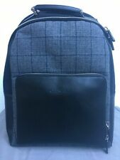 CANALI Black Leather Backpack