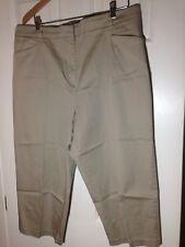 'White Stag' Khaki Cotton Blend Flat Front Capris Pants - Size 20 - EUC