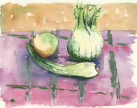 Annabel Wilson - 2012 Watercolour, Still Life of Root Vegetables
