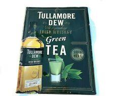 Tullamore Dew Irish Whisky GREEN TEA Store Bar Pub Tin Metal Sign Man Cave Sign