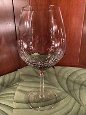 Rare Pier 1 Smoke Crackle Balloon Wine Glass