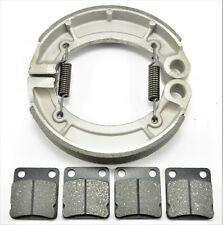 for Yamaha Bruin 350 YFM350 2x4 4x4 2004-2006 Front Rear Brake Pads Shoes