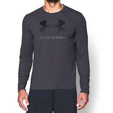 NWT Under Armour Men's Sportstyle Logo LongSleeve Tee 1277647 090 Grey Size 3XL