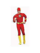 Mens The Flash Deluxe Adult Muscle Superhero Halloween Fancy Dress Costume Men Medium 888079