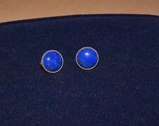 BEAUTIFUL Pair of 14K Gold & Lapis Lazuli Earrings
