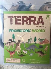Terra By Battat Prehistoric World Playset 60 PCS Bucket With Lid, Hand Painted