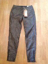 "STUNNING GRACIA JEANS, BLACK METALLIC LEATHER LOOK JEANS UK SIZE 8 (28"") BNWT"