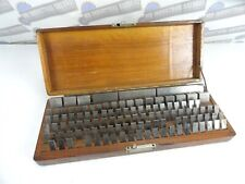 Vintage Doall 109 Pc Gage Block Set 0201 4 With Wood Case Incomplete