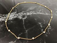 Lovely Vintage Gold -tone French rope Faux Pearl Necklace by Trifari jewellery